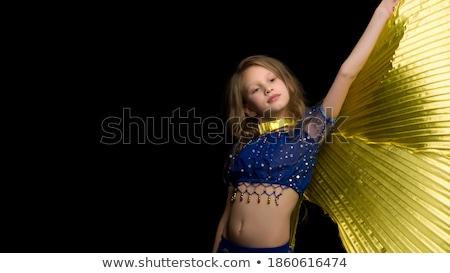 kezek · has · izolált · fehér · lány · fitnessz - stock fotó © gsermek