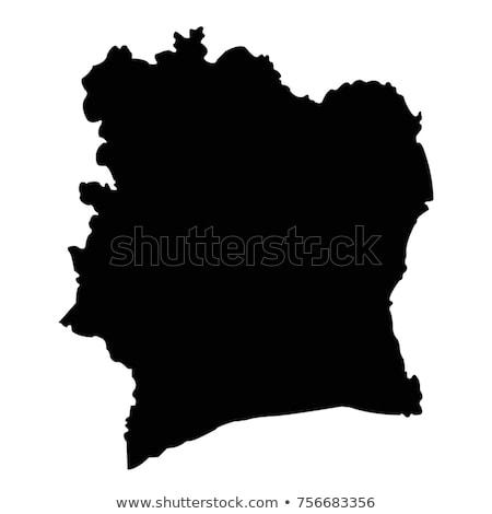 Берег · Слоновой · Кости · стране · карта · белый · побережье · изолированный - Сток-фото © carenas1