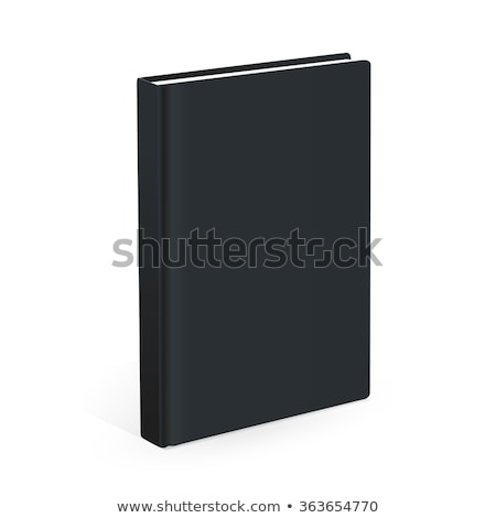 Black closed books gray background Stock photo © romvo