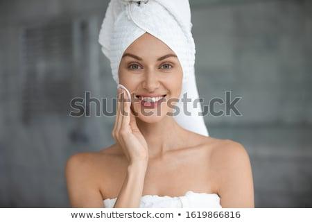 Woman enjoying relaxing wellness massage treatment concept Stock photo © NikoDzhi
