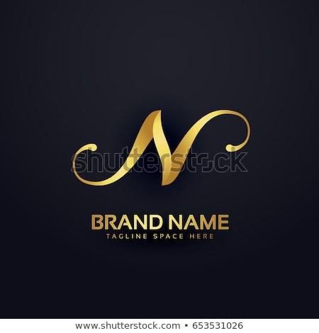 Prämie logo-Design Vorlage swirl Wirkung Stock foto © SArts