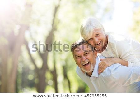 романтические · новобрачный · пару · Постоянный · парка · мнение - Сток-фото © wavebreak_media