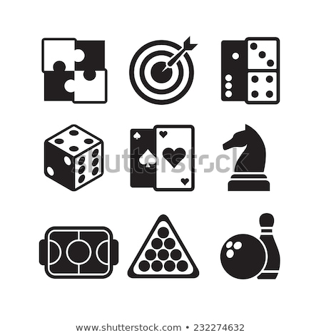 Sports and game icons, vector illustration. Stock photo © kup1984