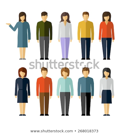 Vrouw icon vector pictogram stijl grafische Stockfoto © ahasoft