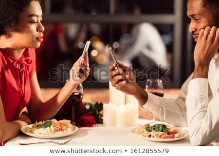 voedsel · restaurant · tabel · vork · vrouwelijke · persoon - stockfoto © adrenalina