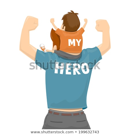 boy sitting on father's shoulders Stock photo © IS2