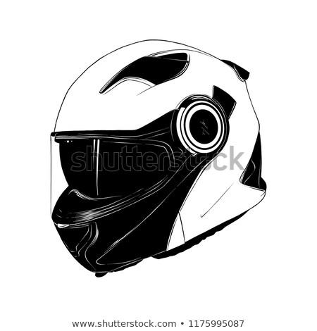 motorcycle helmet sketch icon stock photo © rastudio