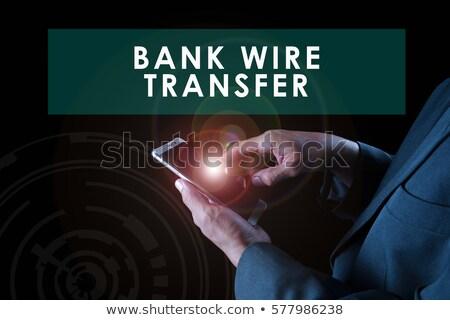 Laptop ekranu banku drutu transfer nowoczesne Zdjęcia stock © tashatuvango