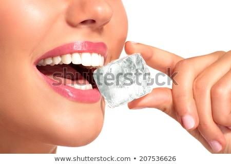 een · Ice · Cube · water · voedsel · licht · glas - stockfoto © is2