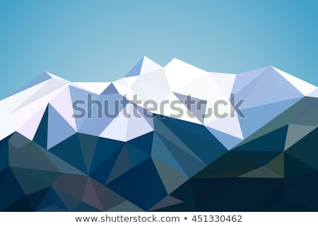 Abstract mountain landscape in polygonal, 3d Illustration Stock photo © tussik