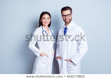 woman handing medicine to man Stock photo © IS2