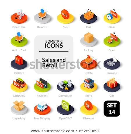 Discount sale symbol isometric 3D icon Stock photo © studioworkstock