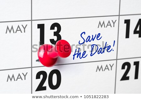 Wall calendar with a red pin - May 13 Stock photo © Zerbor