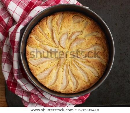 pear and orange polenta cake stock photo © is2