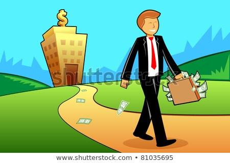 Bank merkt uit aktetas witte kantoor Stockfoto © wavebreak_media