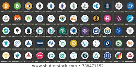 Siacoin - Logol on Dark Digital Background. Stock photo © tashatuvango