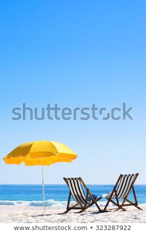 Dwa słońce plaży okulary whisky piękna Zdjęcia stock © tracer