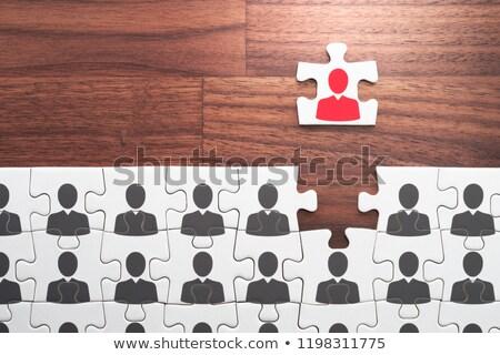 excellente · entretien · d'embauche · questionnaire · forme · accent - photo stock © imabase