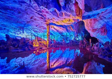 Subterrâneo caverna água ilustração parede arte Foto stock © bluering