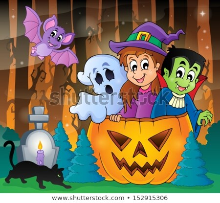 Halloween image with ghosts theme 5 Stock photo © clairev