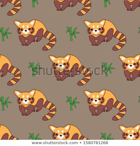 Rajz piros panda illusztráció Stock fotó © cthoman