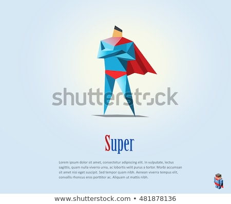 Superhero - set of modern cartoon people characters Stock photo © Decorwithme