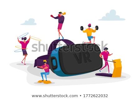 virtual reality goggle women_Sports & exercise Stock photo © toyotoyo