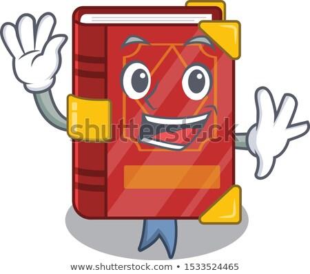 Cartoon Spell Book Waving Stock photo © cthoman
