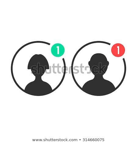 Avatar daire simgeler erkek kadın yüzler Stok fotoğraf © blumer1979