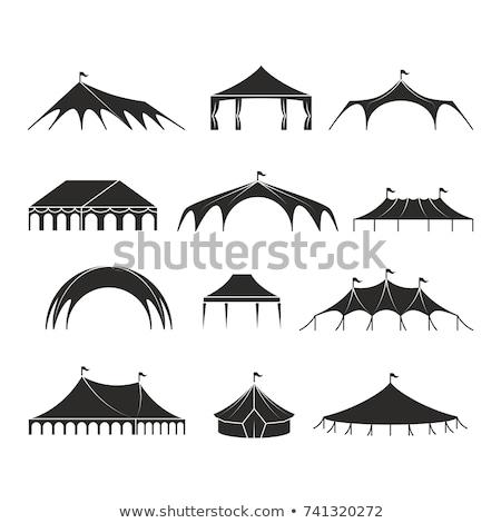 Siluet çadır ikon parti sanat yaz Stok fotoğraf © JeksonGraphics