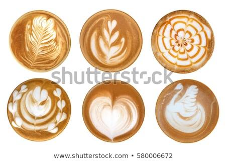 Coffee latte art set Stock photo © grafvision