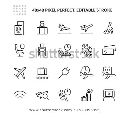 Havaalanı ikon beyaz dizayn imzalamak web Stok fotoğraf © smoki