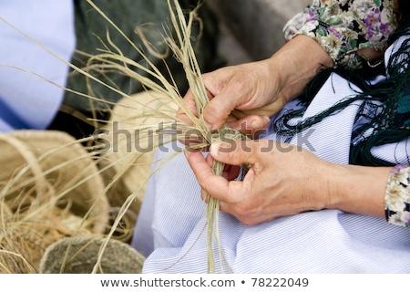 basket handcraft mediterranean Ibiza Balearic Stock photo © lunamarina