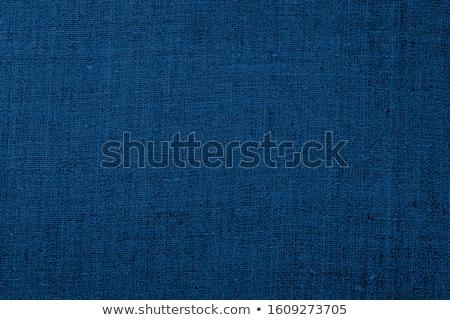 sötét · kék · vászon · textúra · közelkép · kilátás - stock fotó © grafvision