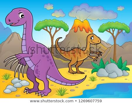 画像 恐竜 水 自然 芸術 砂 ストックフォト © clairev
