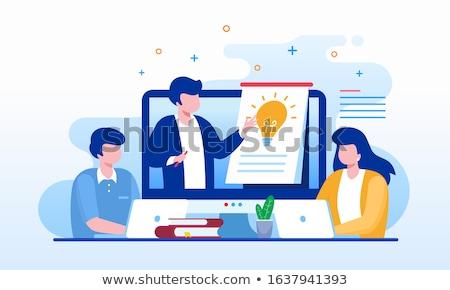Online teaching concept landing page. Stock photo © RAStudio