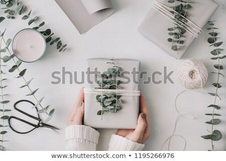 Stockfoto: Voorjaar · moderne · verjaardag · geschenken · presenteert