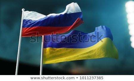 два флагами Россия Украина изолированный Сток-фото © MikhailMishchenko