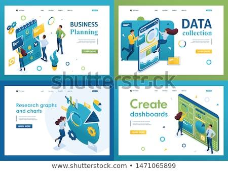 productividad · aterrizaje · página · empresario · de · trabajo - foto stock © rastudio