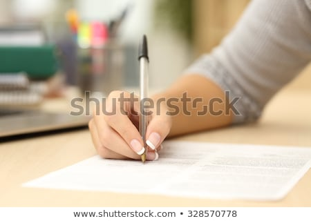 Close up word signature on business agreement form.  Stock photo © vinnstock