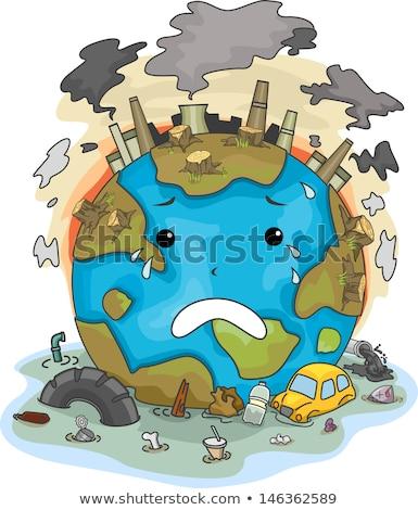 Izolált szennyezés természet illusztráció fa háttér Stock fotó © bluering