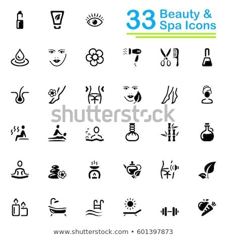 Napozás fürdő szalon pedikűr szög vektor Stock fotó © robuart