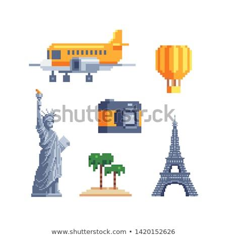 Franciaország matrica mágnes turisták torony vektor Stock fotó © robuart