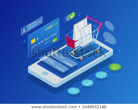 shopping color isometric concept icons stock photo © netkov1