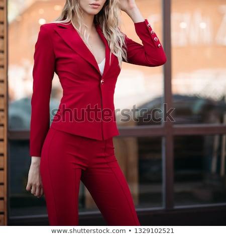 着用 · 緩い · 服 · ブロンド · 女性 - ストックフォト © studiolucky
