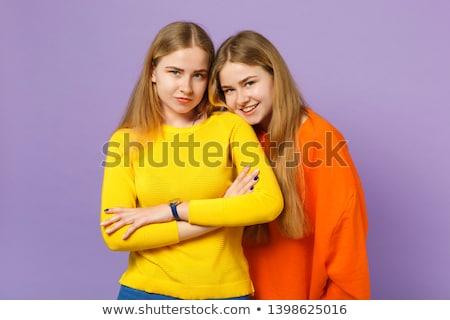 Colorido estúdio imagem dois belo mulheres jovens Foto stock © studiolucky