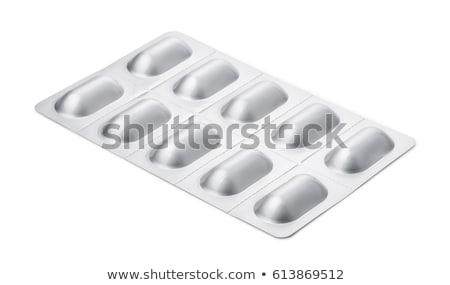 Orvosi ezüst hólyag csomag csomagolás gyertya Stock fotó © DenisMArt
