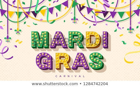 Mardi Gras Carnival Vector Concept with Jester Stock photo © robuart
