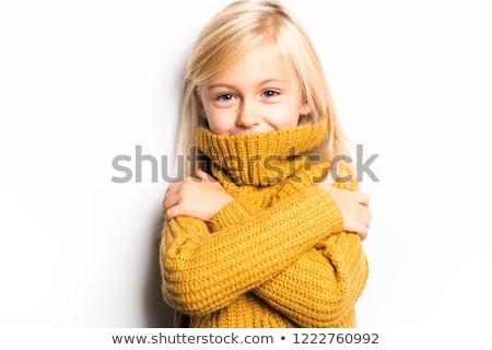 Cute nina 5 años posando estudio congelado Foto stock © Lopolo