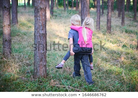 enfants · Kid · fille · jouer · escalade · arbre - photo stock © lopolo